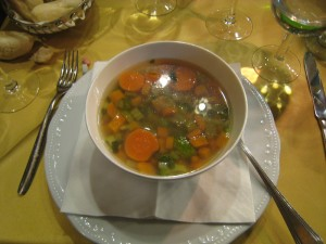 This vegetable soup was so wonderful!