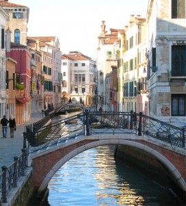 Venice, with canals and more tall, beautiful women