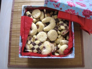 Homemade cookies from Vienna sent by a couchsurfer friend! YUM!