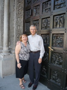 I was limping around Europe with my tall, slender husband.